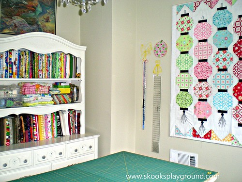 Fabric Hutch Design Wall and Cutting Table