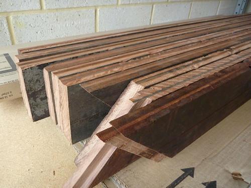 Ledges and braces, cut to size