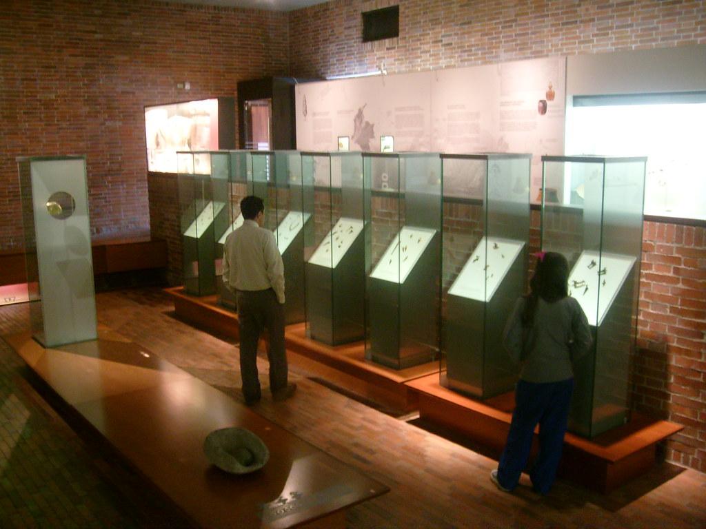 Imagen de la Sala de exhibición en el Museo del oro Quimbaya de Armenia