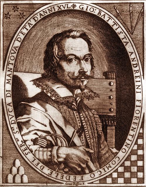 Portrait of Giovan Battista Andreini, Carlo Antoniuo Procaccini, Milan, Trivulziana Library