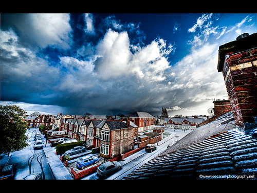 Snow Storm over Liverpool