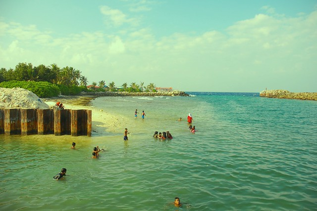 Where the people of Fuvahmulah go for swimming - Maldives