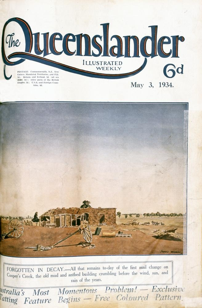 Illustrated front cover from The Queenslander, May 3, 1934