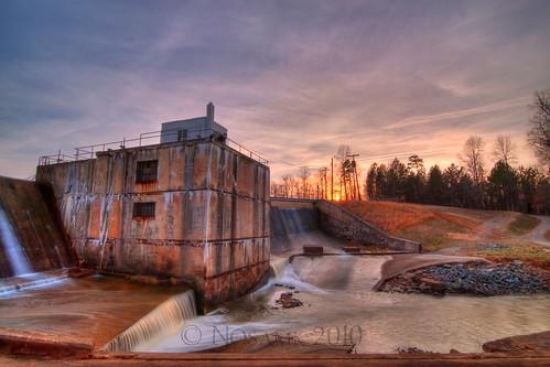 sunset lake water nc dam tripod northcarolina salem hdr gitzo winstonsalem photomatix 5exposure arcatech tokinaatx116prodx gt2531