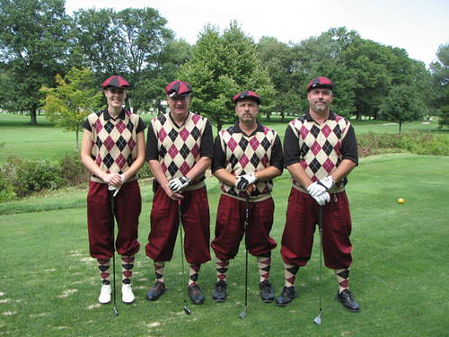 traditional golf attire