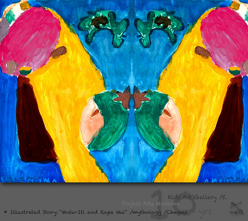 "KidsArt 10yrs) _5* illustrated story: ""Motu-Iti and Rapa Nui"" /mythology /Chagall by SeRGioSVoX"