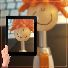Smiling Orange Stylus Pen--Picture in Picture