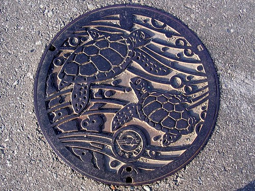 Minabe town Wakayama pref manhole cover(和歌山県南部町のマンホール)
