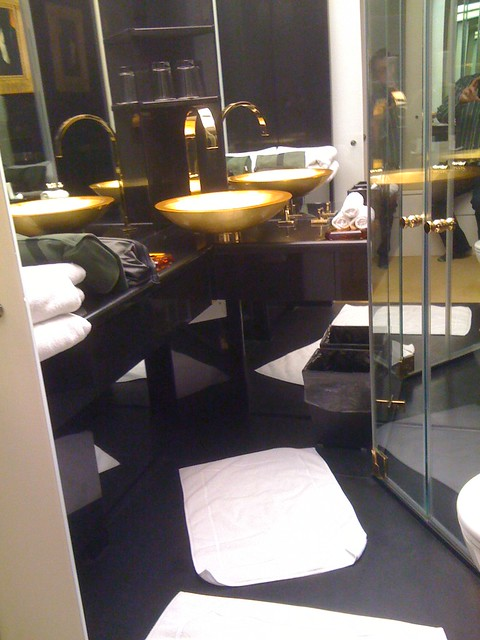You can have too much black marble and gold in a bathroom flickr