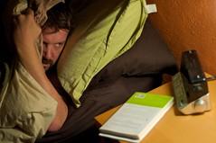Snoring at night-sleep apnea symptom