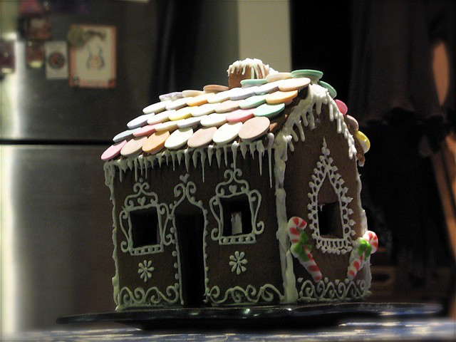 My first gingerbread house as an adult, though I feel certain I made them when I was little...