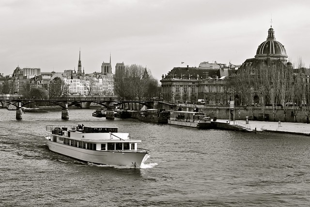 Cruise on the Seine River in Paris, France