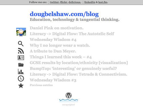 dougbelshaw.com/blog minimalist v2