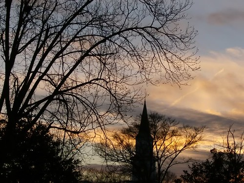 sunset church southcarolina steeple seneca