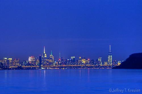newyorkcity blue newyork skyline night newjersey hudsonriver irvington georgewashingtonbridge