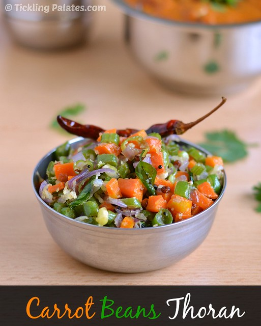 Carrot and Beans Thoran Recipe