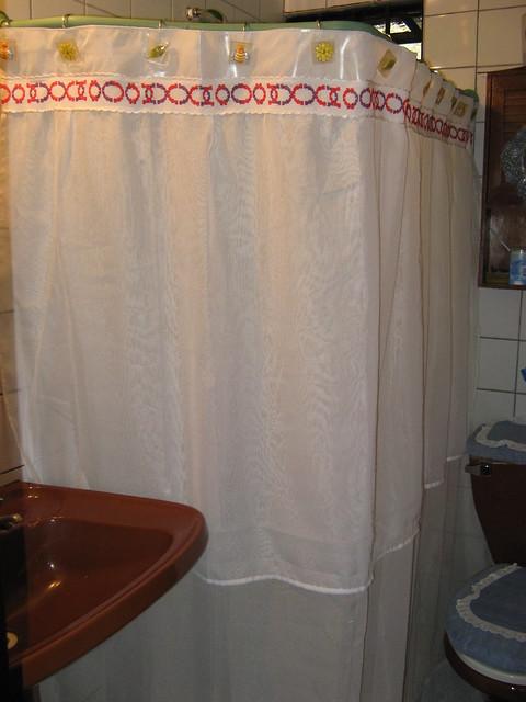Cortina De Baño Original:Cortina para baño – Guarda en rojo y violeta 023