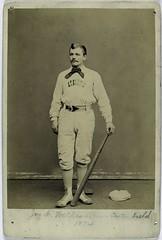 John F. McMullen [sic], Philadelphia Athletics,1874. Center ...