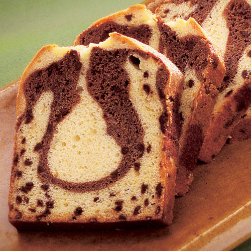 Marble Pound Cake With Chocolate Chips