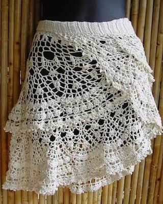 Free Crochet Wrap Skirt Pattern : saia em croche Flickr - Photo Sharing!