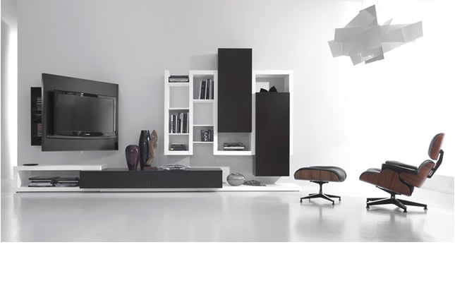 wall storage and tv rack for minimalist entertainment