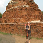 Helene Tourists It Up - Wat Phra Mahathat, Ayutthaya, Thailand