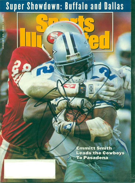 January 25, 1993, Autographed Sports Illustrated by Emmitt Smith