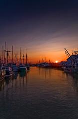 Sunset at Steveston Docks Richmond BC