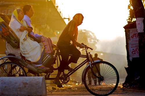 trip travel india bicycle sunrise dawn photoblog transportation rickshaw cultural bihar cyclerickshaw purnea