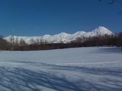 雪の知床連山(原生林スノーシューツアー, 知床) Snowshoeing@Shiretoko