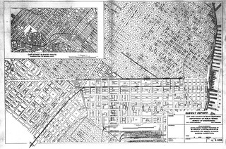 Plan Showing Initial Rapid Transit Program of Street Car Subways on Market and Mission Streets, Showing Connections (1930)