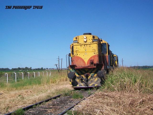 ALCO RSD35 6466 por ramal Venado Tuerto - Rufino.