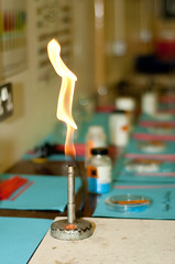 bunsen burner for science class