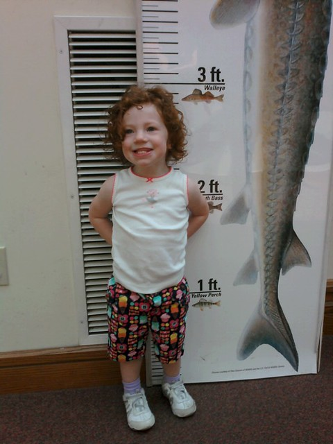 She's almost the size of a walleye!