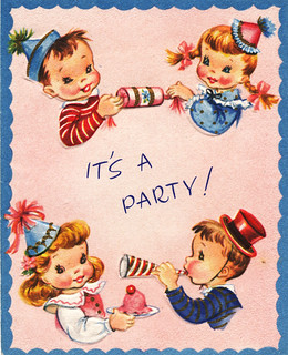 Vintage children's party invitation