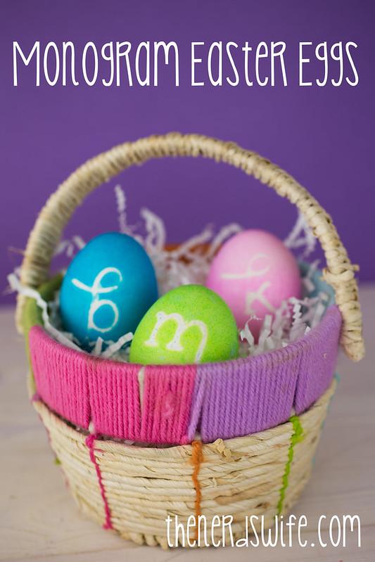 Monogram Easter Eggs