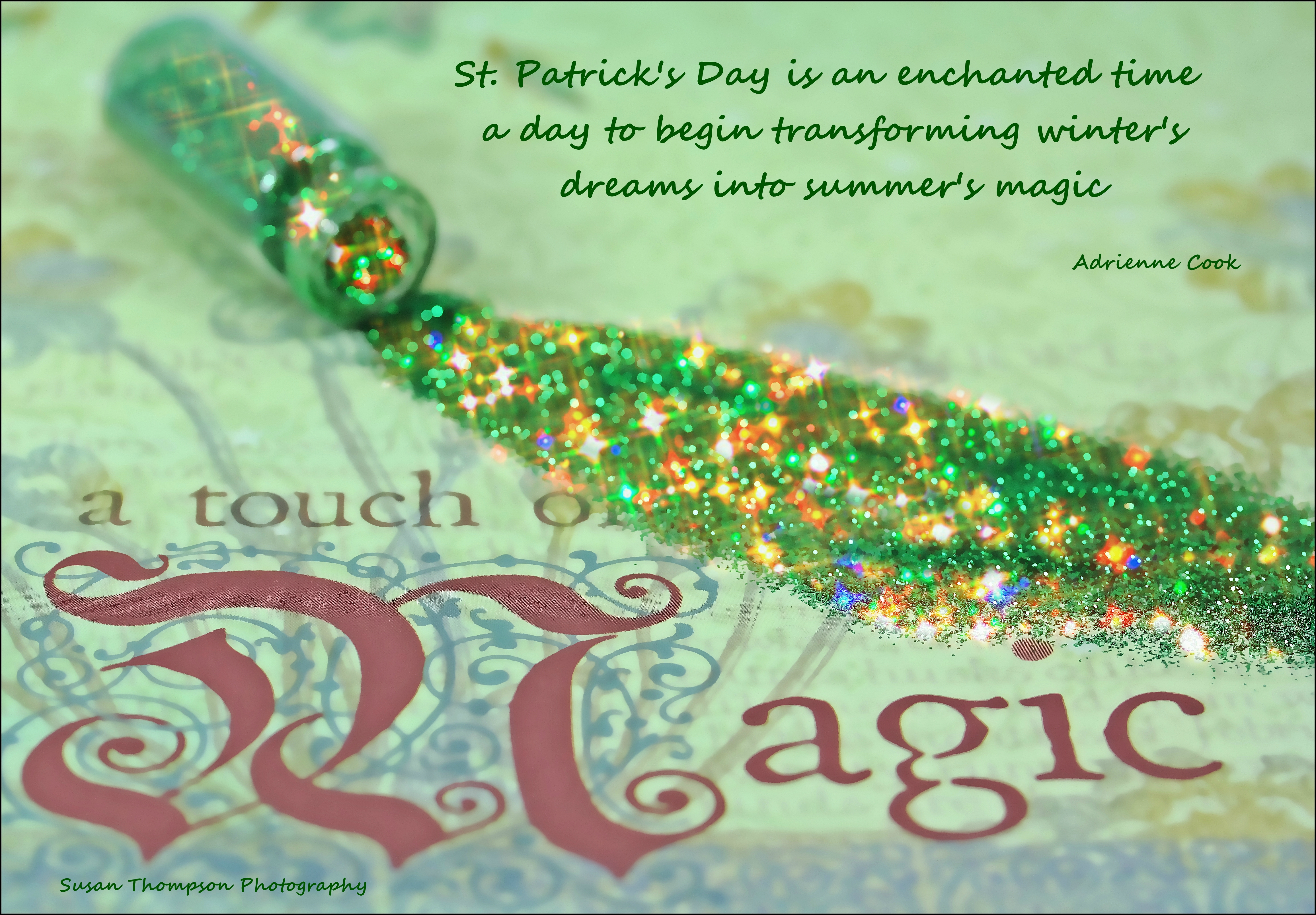 Happy St. Patrick's Day. green, canon, day, magic, 28, 60mm, stpaddys, 60d, athoughtfortheday. buy photo