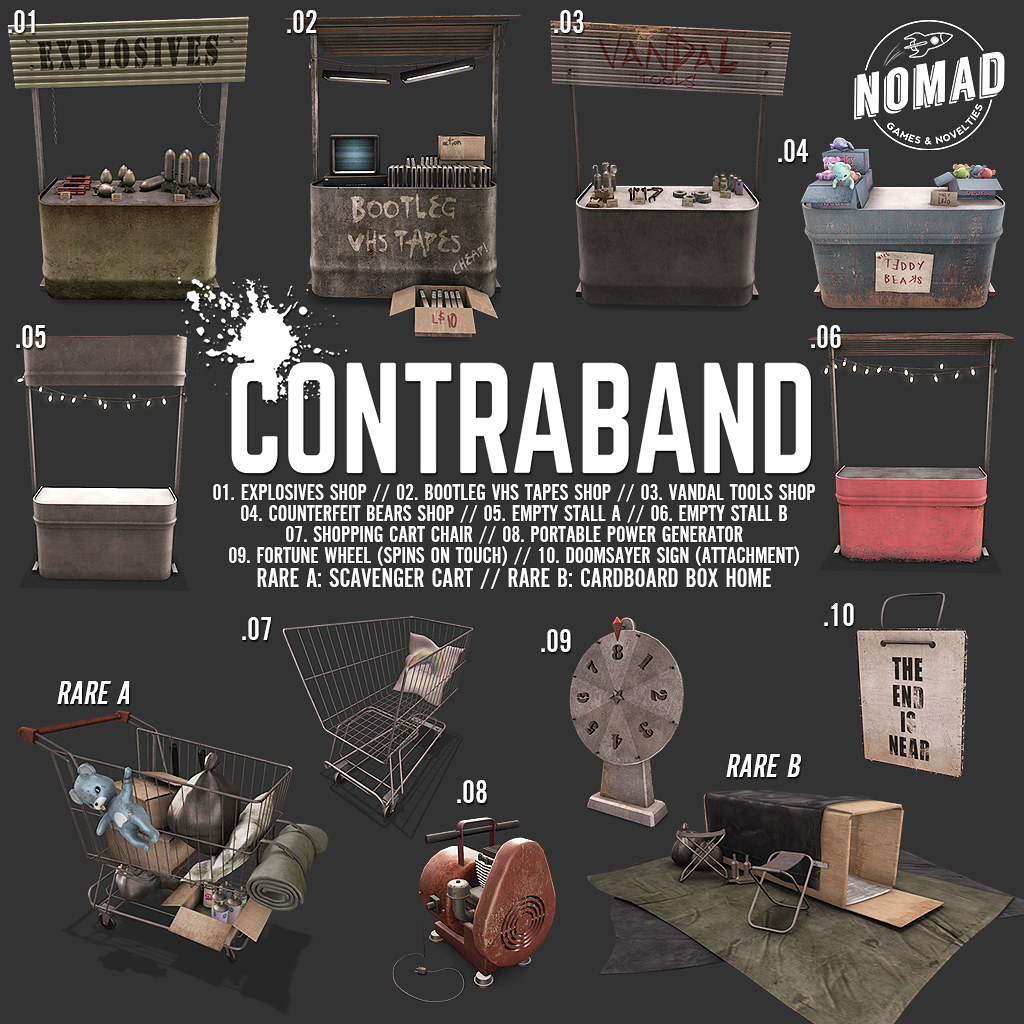 NOMAD // CONTRABAND for THE ARCADE - SecondLifeHub.com