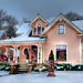 The Pink House Christmas Snow