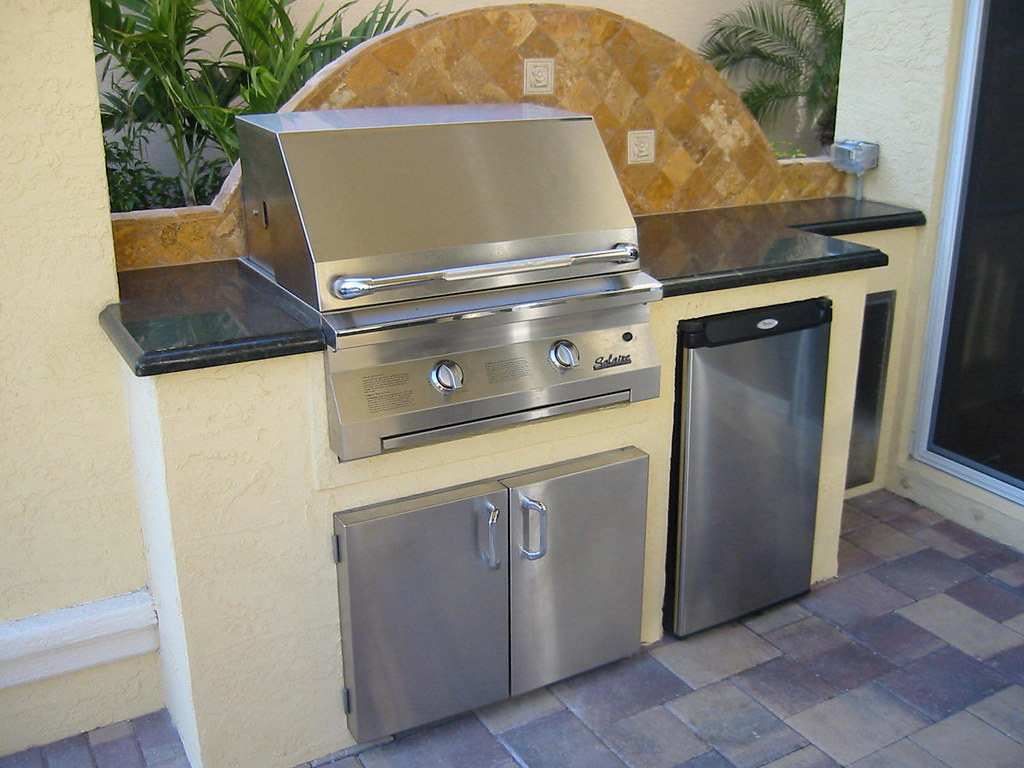 Gas grill with refrigerator for Gasgrill fur outdoor kuche