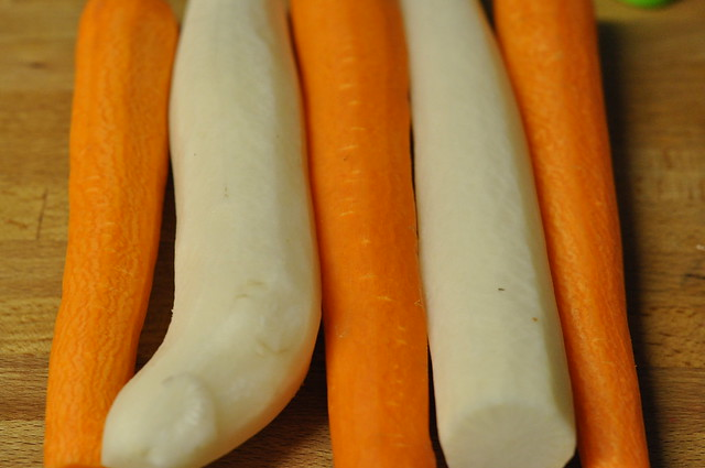 carrots and daikon