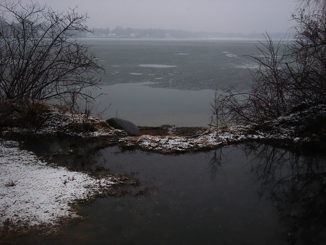 Lake Quannapowitt in February.  Wakefield, Massachusetts (2010)