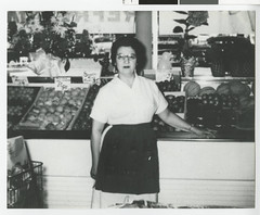 Sylvia Borken, at the family store, Knox Market, at Knox and Plymouth Avenues in North Minneapolis