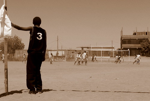 The keeper in Sudan #cycling #africa #football #theshirt by @heidenstrom