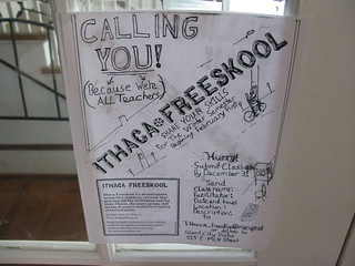 ithaca freeskool call for class proposals