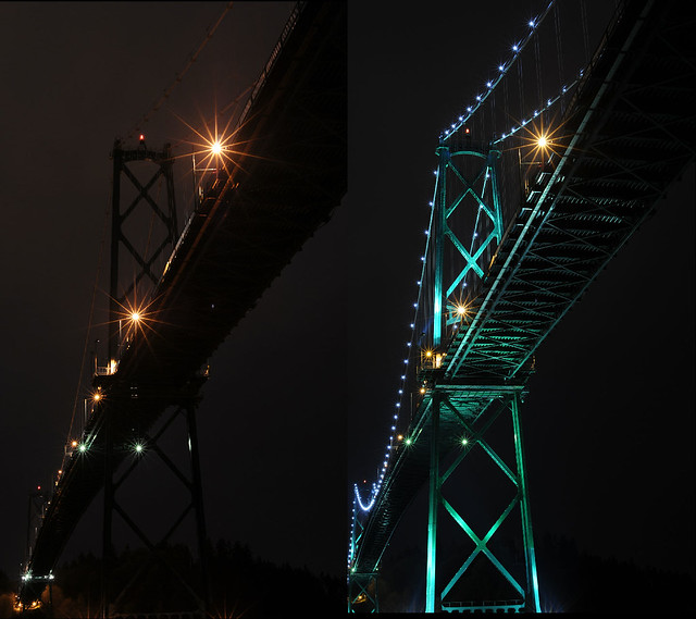 Earth Hour  Lions Gate Bridge