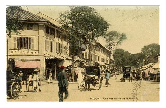 SAIGON - RUE AVOISINANTE LE MARCHE