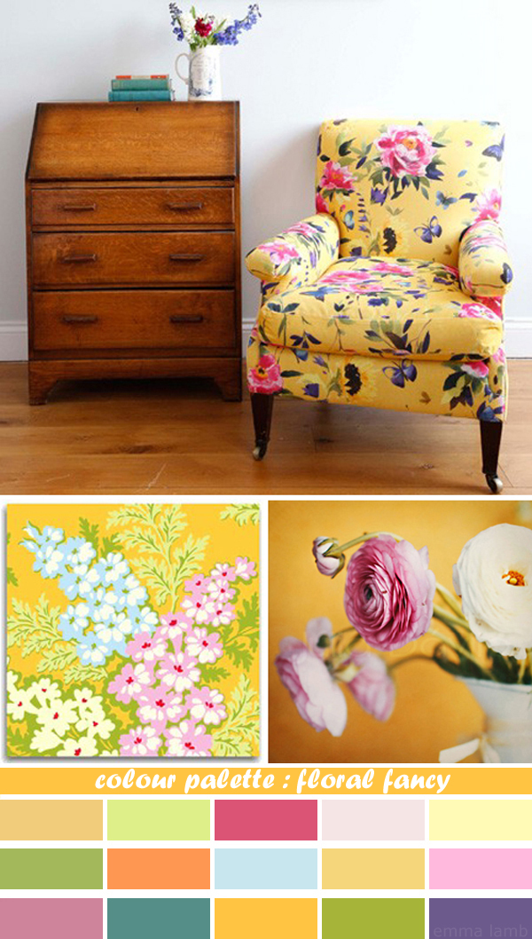 colour palette : floral fancy curated by Emma Lamb