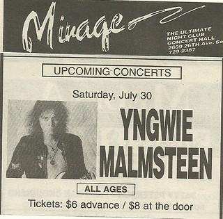 07/30/94 Yngwie Malmsteen @ Mirage, Minneapolis, MN