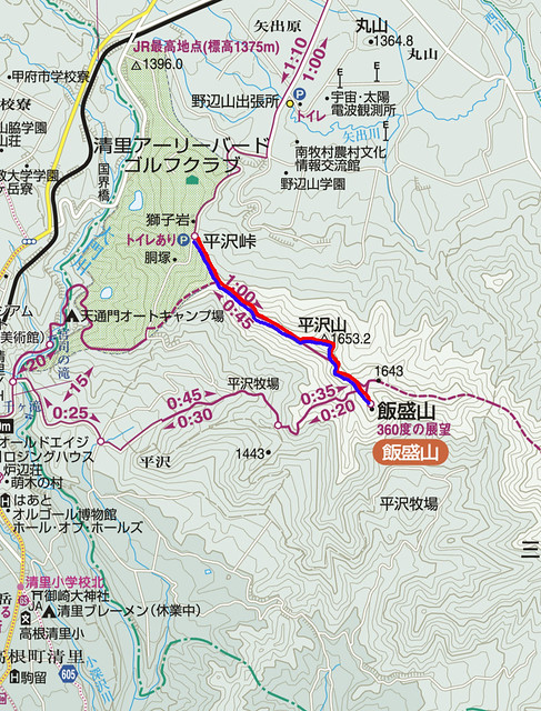 飯盛山の地図